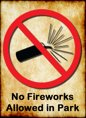 no fireworks in the park