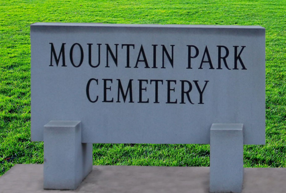 mountain park cemetery sign2