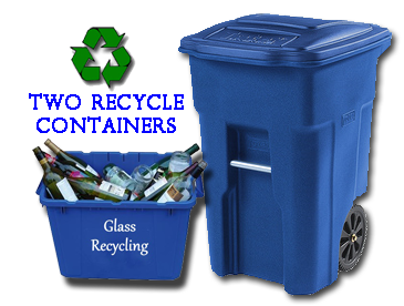 two recycle bins