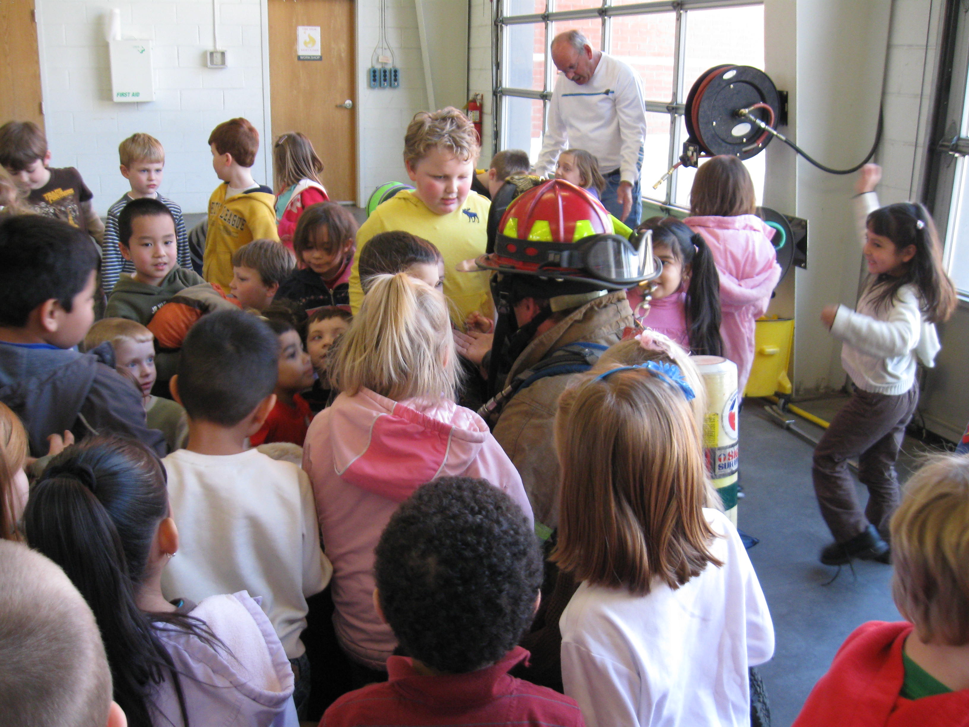 Life Safety Education with kids in class