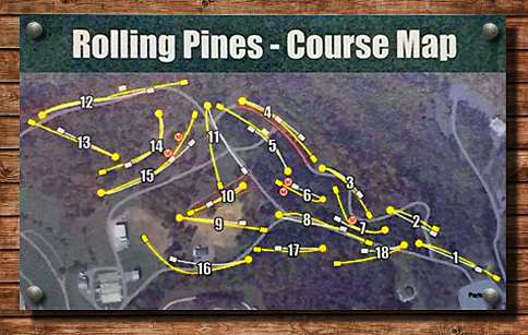 Rolling Pines DGC Map