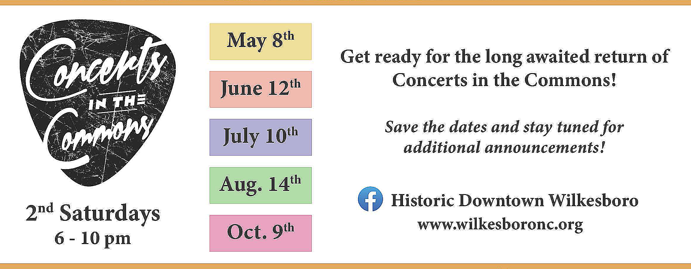 2021 concerts in the commons