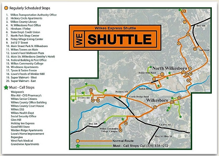 Hwy 421 Nc Map.Maps Wta Map And Schedule Town Of Wilkesboro North Carolina